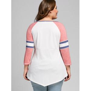 Plus Size Empire Waist Raglan Sleeve T-shirt -