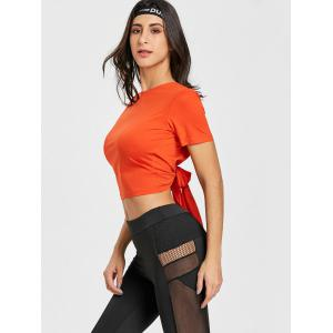 Sports Crop Back Wrap T-shirt -