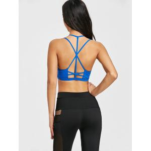 Strappy Caged Yoga Bra with Pad -