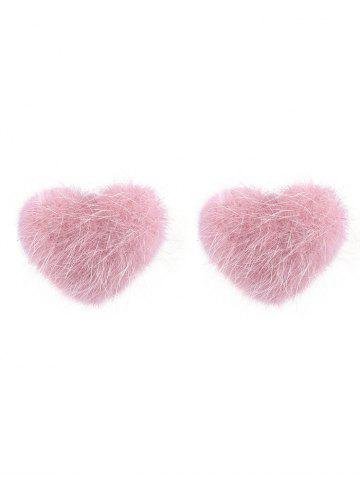 Chic Valentine's Day Heart Fuzzy Stud Earrings