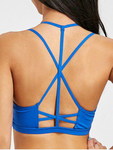 Discount Strappy Caged Yoga Bra with Pad