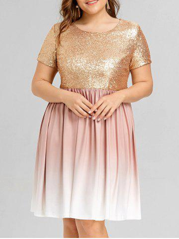 Golden 5xl Plus Size Sequined Ombre Party Dress Rosegal