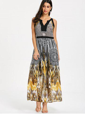 73fd6017f2 Round Leopard Print Sleeveless Maxi Dress