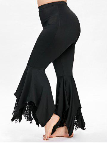Best Plus Size Handkerchief Bottom Flare Pants