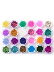 Professional 24 Colors Nail Art Decoration Pearl -