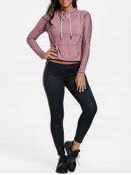 Hooded High Low Three Piece Sweat Suits -
