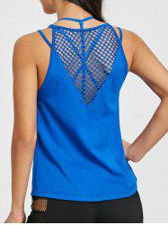 Fishnet Cutout Sports Tank Top -