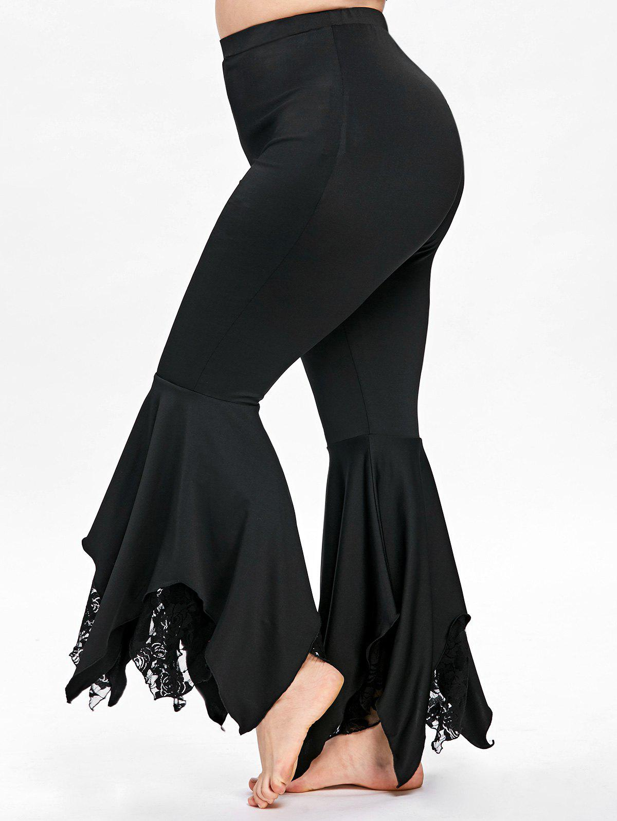 Latest Plus Size Handkerchief Bottom Flare Pants
