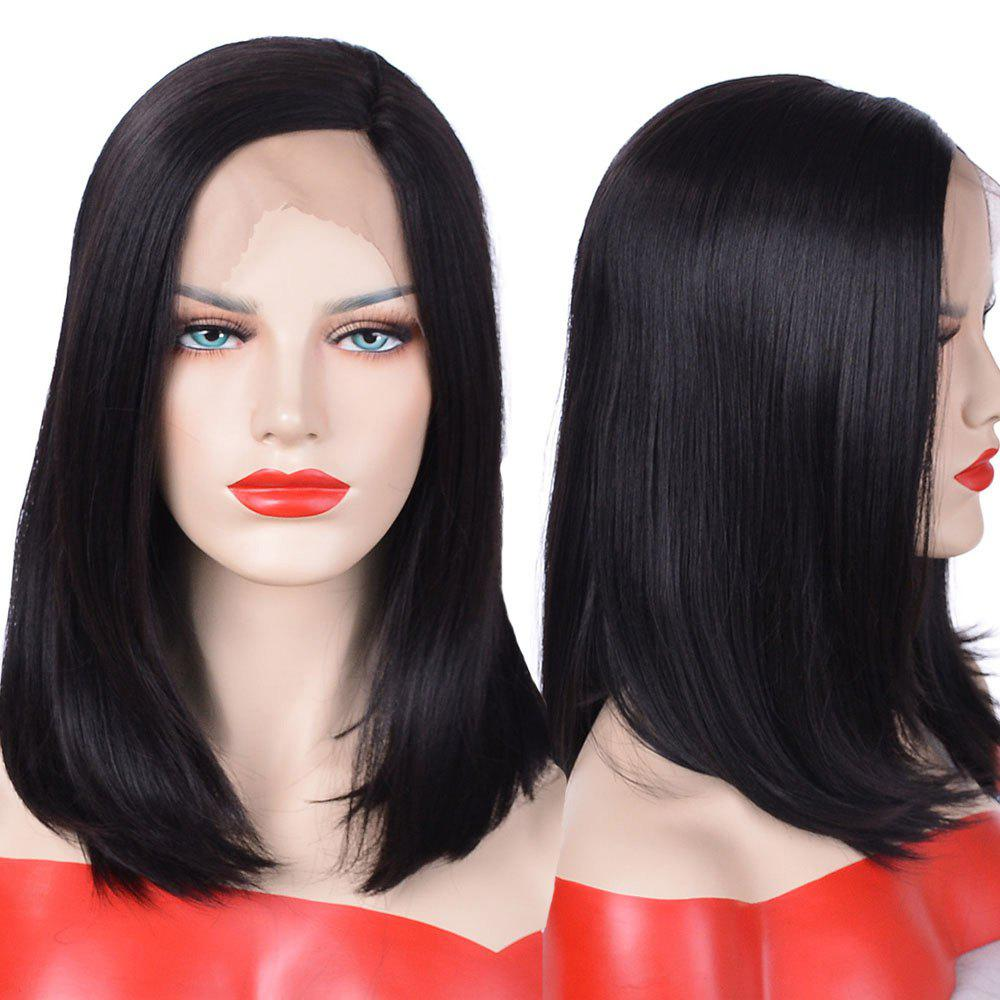 Chic Lace Front Medium Side Parting Straight Bob Synthetic Wig