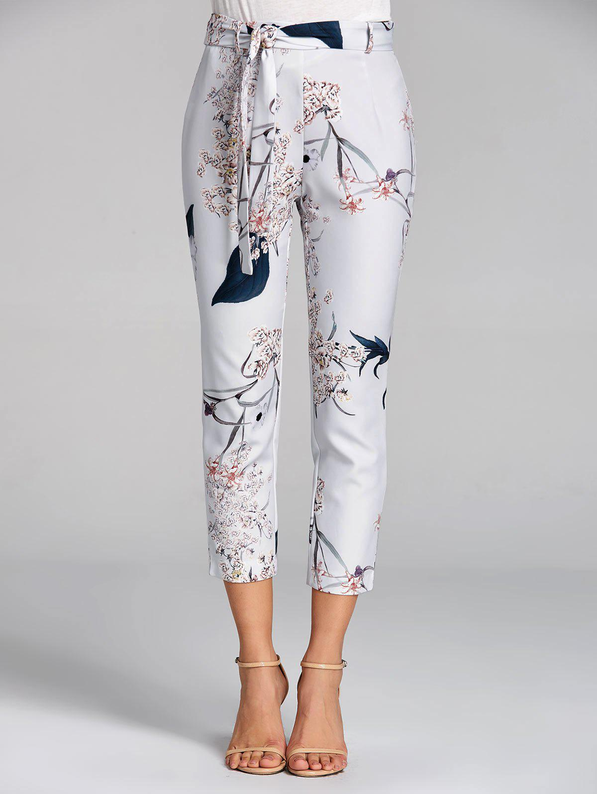 Best Floral Print Capri High Waisted Pants