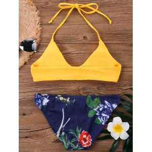 Halter Neck Floral Hawaiian Bikini Set -