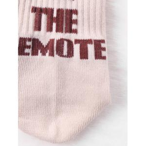 PASS ME THE REMOTE Pattern Knitted Tube Socks -
