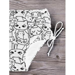 Plus Size Cat Cartoon Bikini Set -