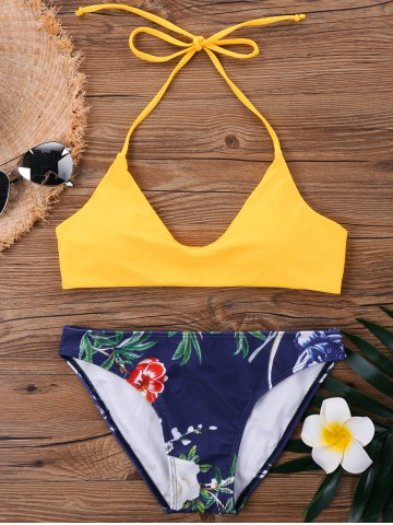 Shop Halter Neck Floral Hawaiian Bikini Set