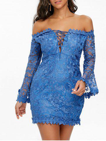 New Off The Shoulder Lace Mini Dress