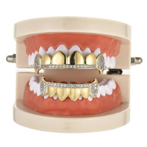 Best Rhinestone Top Bottom Hip Hop Teeth Grillz Set