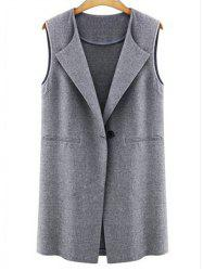 Seam Pockets One Button Vest -