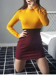 Crew Neck Bodycon Sweater Dress -