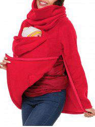 Cowl Neck Baby Holder Sweatshirt -