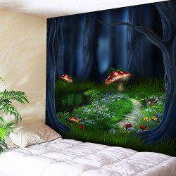 Wall Art Fantasy Forest Print Tapestry -