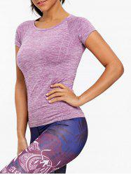 Marled Skinny Slim Sports T-shirt -