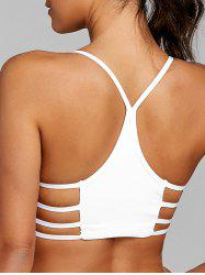 Lattice Cutout Racerback Yoga Bra -