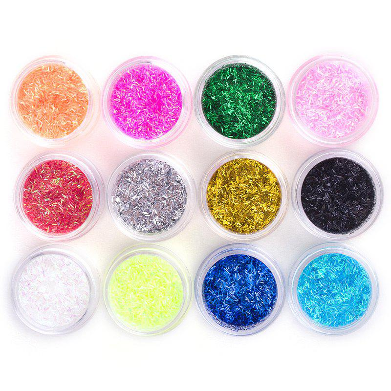 Online Professional Multi Colors 3D Nail Art Glitter Acrylic Stripes Powder