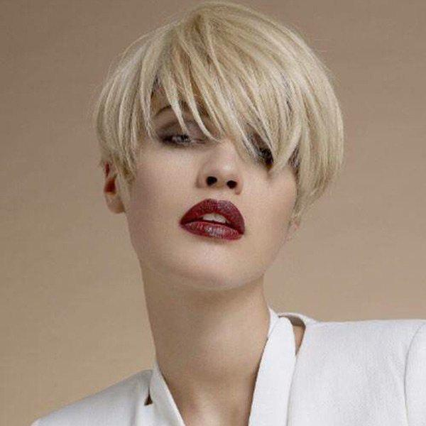 Outfit Short Side Bang Straight Pixie Human Hair Wig