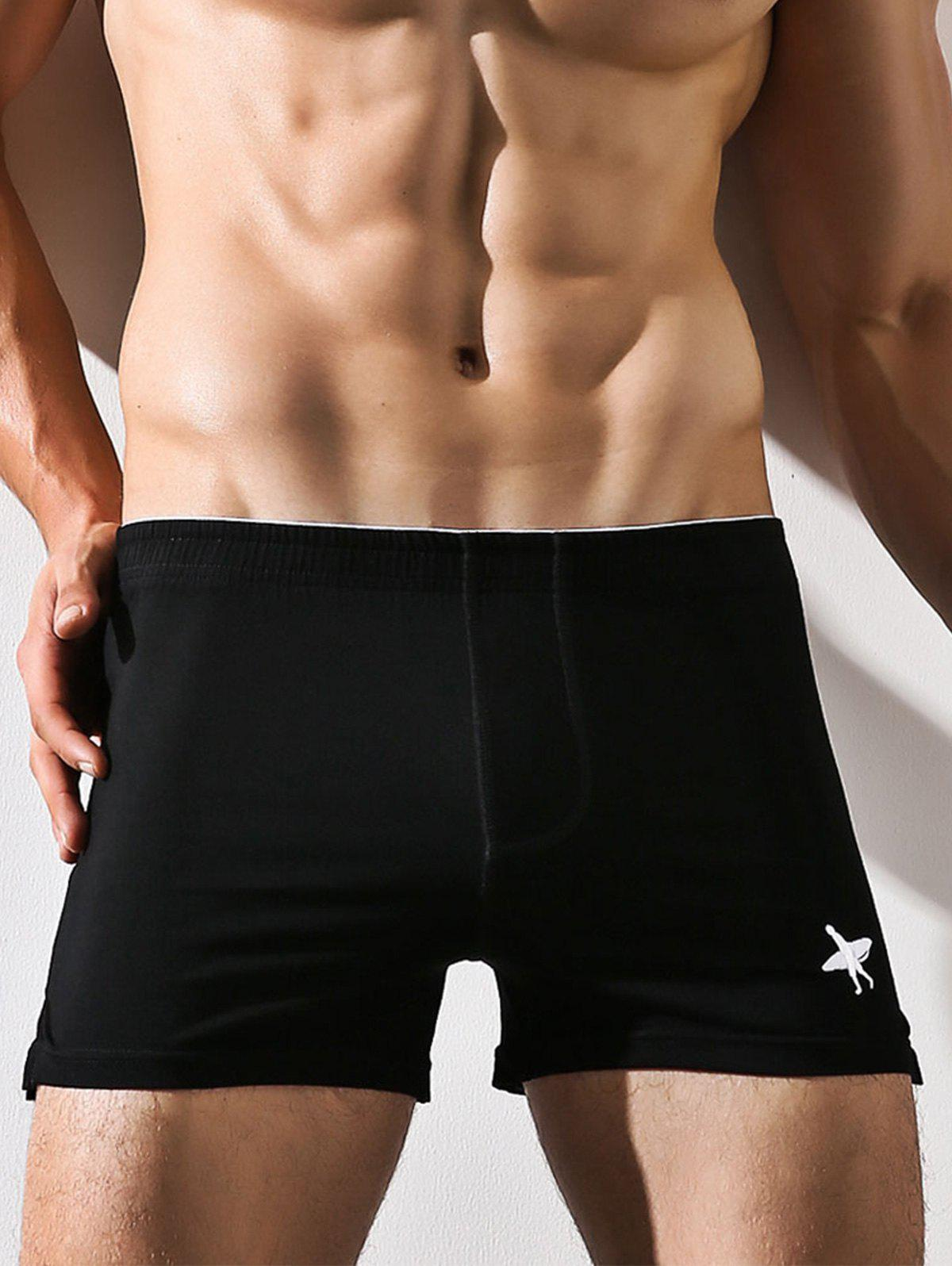 Unique Embroidered Elastic Waist Boxer Brief