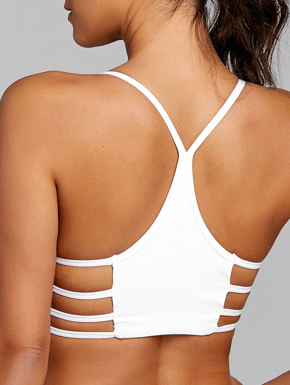 Discount Lattice Cutout Racerback Yoga Bra
