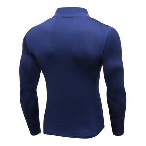 Stand Collar Quick Dry Half Zip Stretchy T-shirt -
