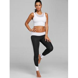 Mesh Insert Faux Twinset Sports Bra -