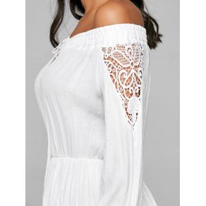 Off The Shoulder High Low Crochet Dress -