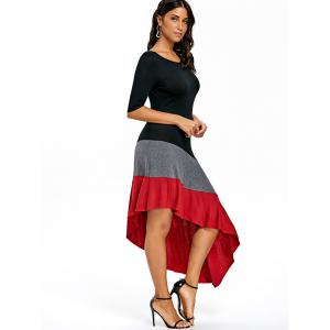 Pictures of color blocking dresses for women