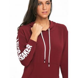 Drawstring Pullover Graphic Hoodie -