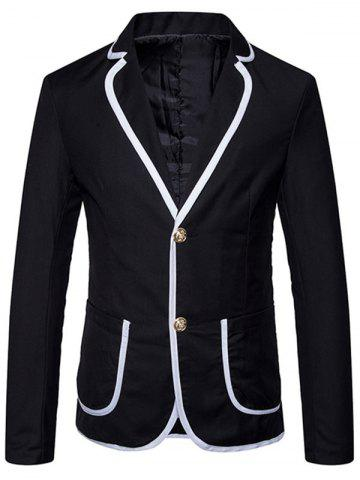 Outfits Lapel Collar Contrast Trim Casual Blazer