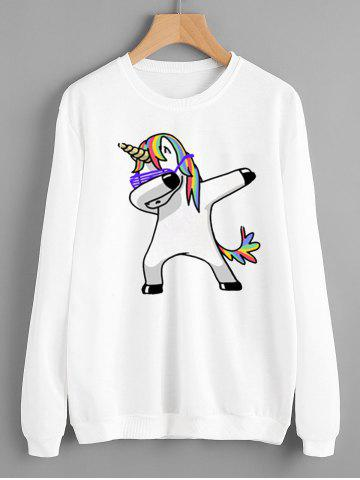Sweat-shirt à Imprimé Licorne