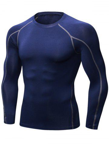 Online Quick Dry Stretchy Suture Long Sleeve T-shirt