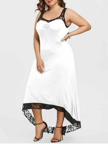 Outfit Plus Size High Low Party Maxi Dress