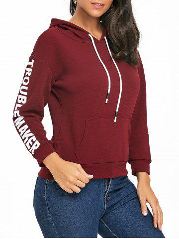 Drawstring Pullover Graphic Hoodie