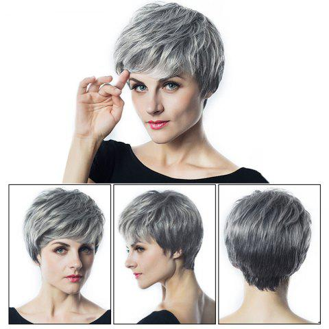 Trendy Short Side Bang Fluffy Layered Slightly Curly Synthetic Wig