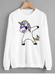 Sweat-shirt à Imprimé Licorne -