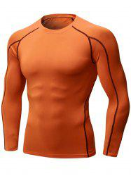 Quick Dry Stretchy Suture Long Sleeve T-shirt -