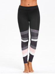 Color Block Graphic Skinny Leggings -