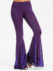 Mid Waisted Sequin Flare Pants -