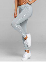 Striped Workout Leggings -