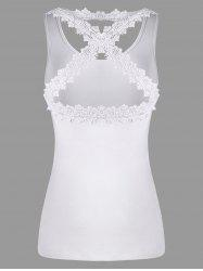 Lace Panel Criss Cross Tank Top -