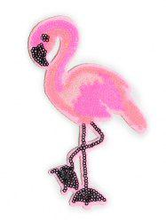 Flamingo Parches Sticker Embroidery Patch -