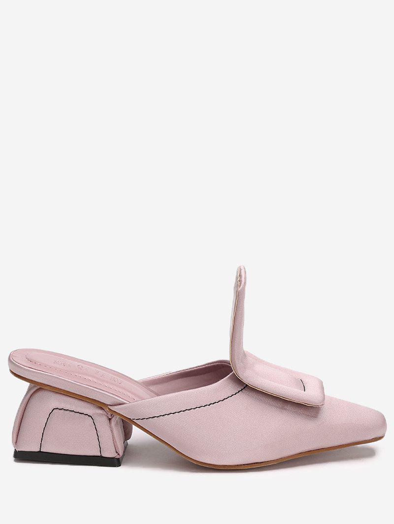 Store Stitching Mid Heel Loafers