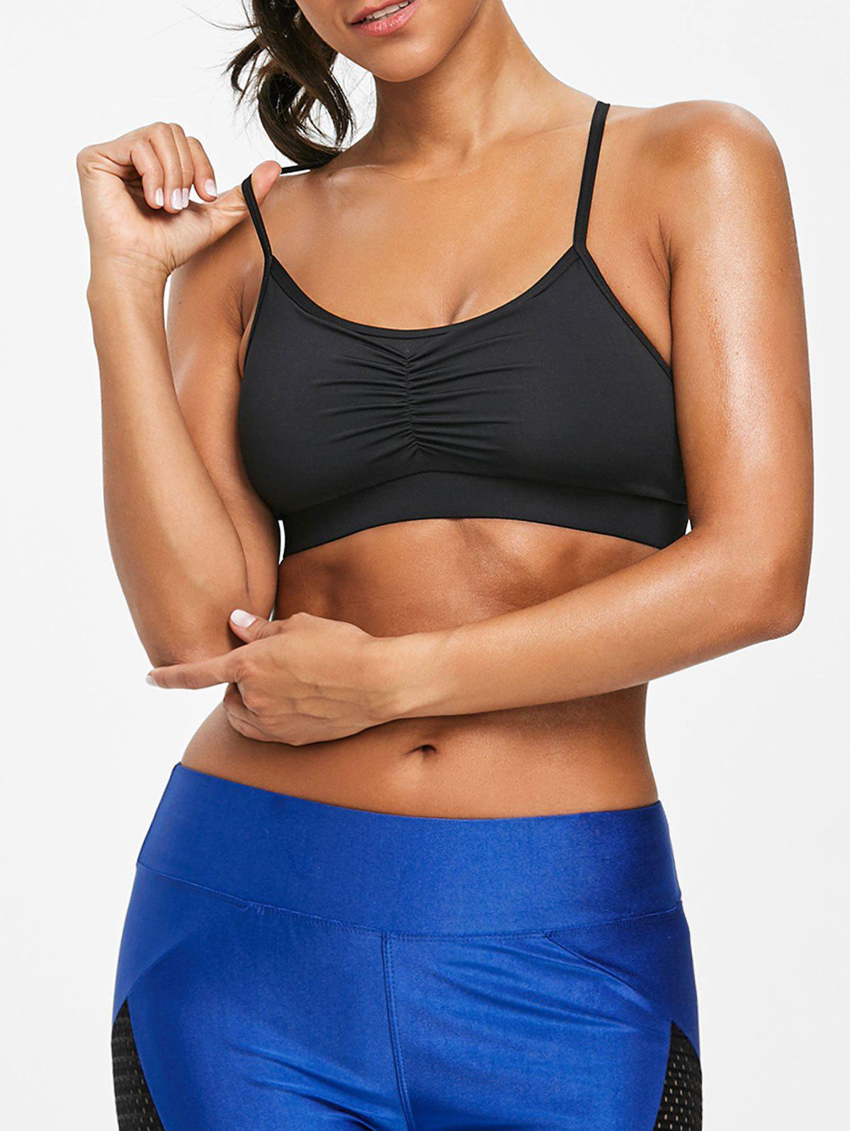 Best Unlined Ruched Cami Sports Bra